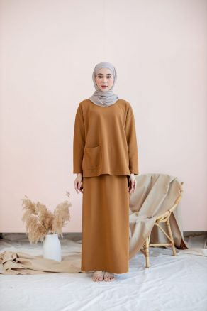 Set Ironless Top (with Poket) + Skirt